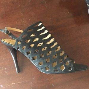 Nine West Leather Cut Out Heels